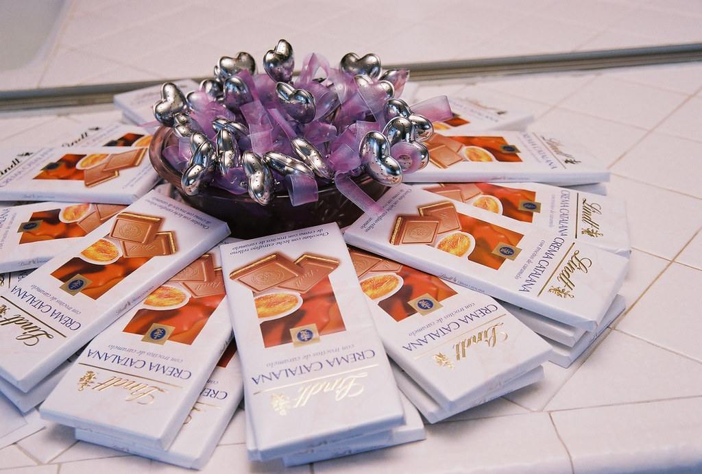 Lindt Chocolate Wedding Favors Lindt Chocolate 40th