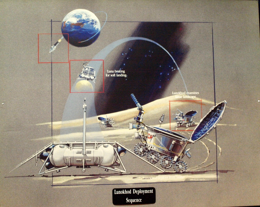 Lunar Rover The Diagram Is On Display At The Kansas Cosmosphere And