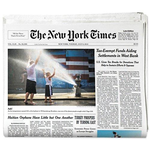new york times newspaper template