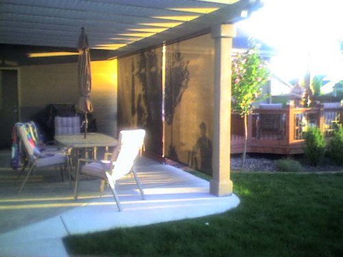 Patio Solar Shade - Motorized