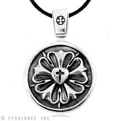 STERLING SILVER CROSS NECKLACES FOR MEN : STERLING SILVER