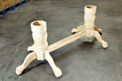 Unfinished Wood Pedestal