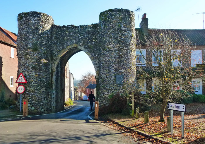 Bailey Gate, castle, Castle Acre, Norfolk