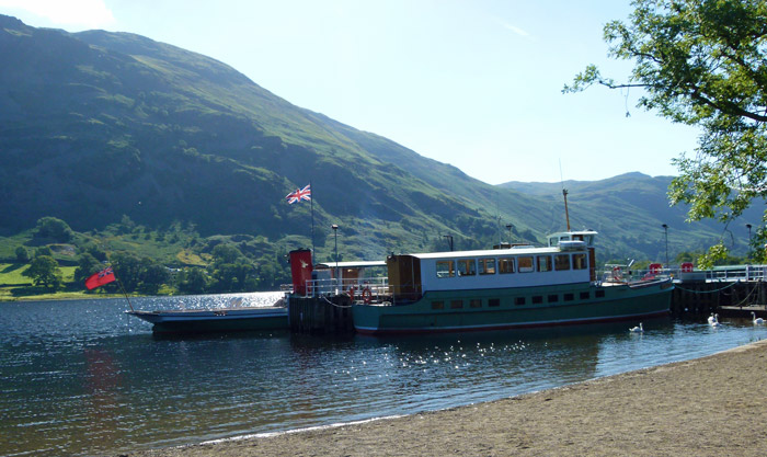 Ullswater, Cumbria, MY Raven, ferry to Howtown