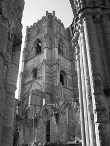 Fountains Abbey, Huby, tower, east window