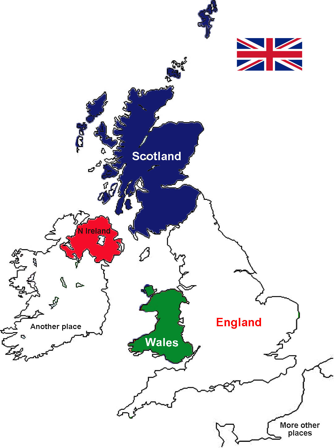 Map Of England Wales Scotland.What Does Britain Mean A Bit About Britain