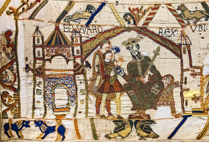 Bayeux, Tapestry, King Edward, Confessor, Godwinson, Normans, Saxons
