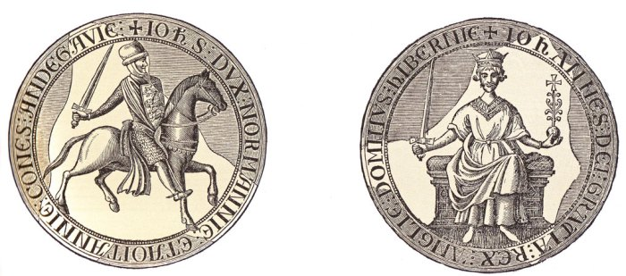 King John, Magna Carta, seal