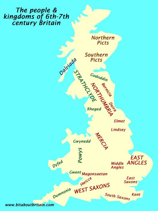 Dark Age Britain, map