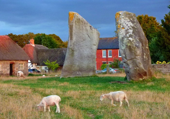 Avebury, stone circle, village, Wiltshire
