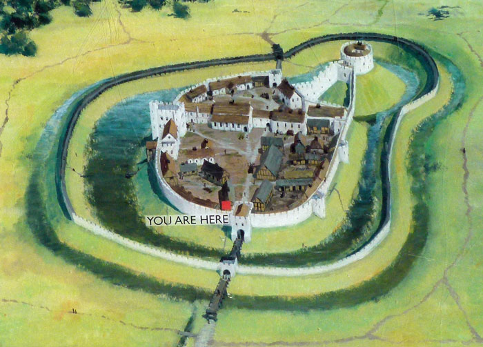 Berkhamsted Castle, as it might have been