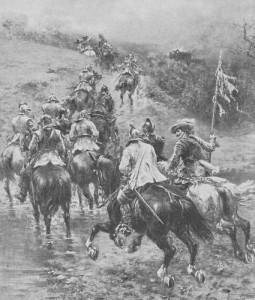 A troop of Royalist Cavalry