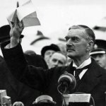Neville Chamberlain. Peace for our time.