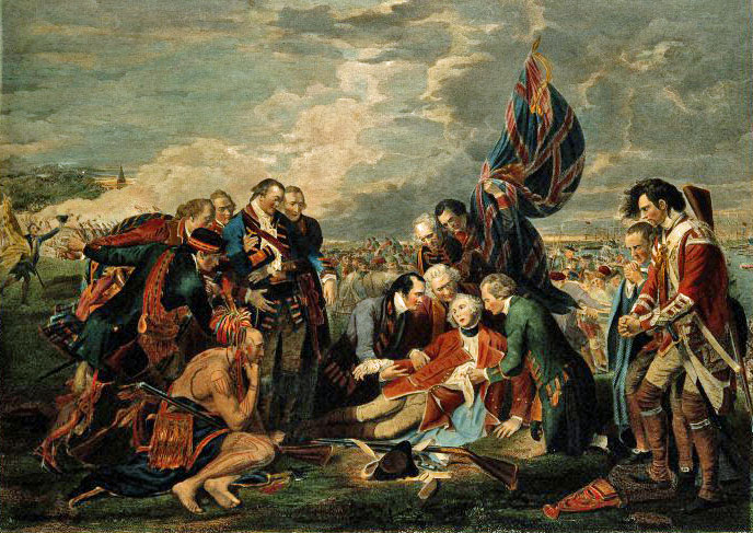 Death of General Wolfe at Quebec, British expansion