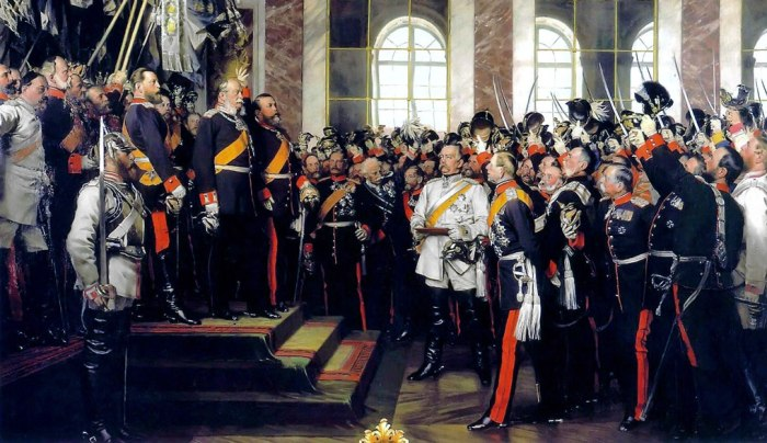 Proclamation of the German Empire, Hall of Mirrors, Versailles, causes of the First World War