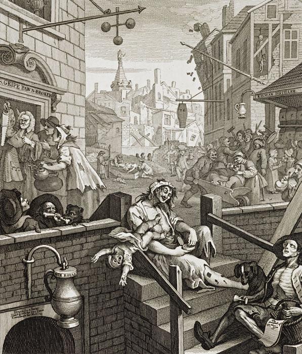 Gin Lane by Hogarth, social unrest