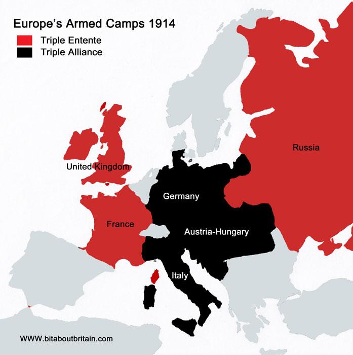 Map, Europe, 1914