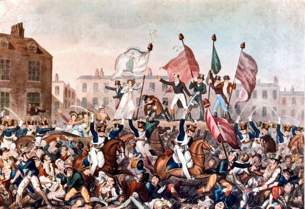 Peterloo Massacre, riots, revolting Britain