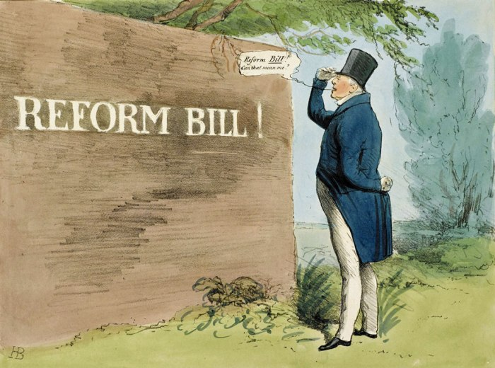 Reform Bill, King William IV, electoral reform