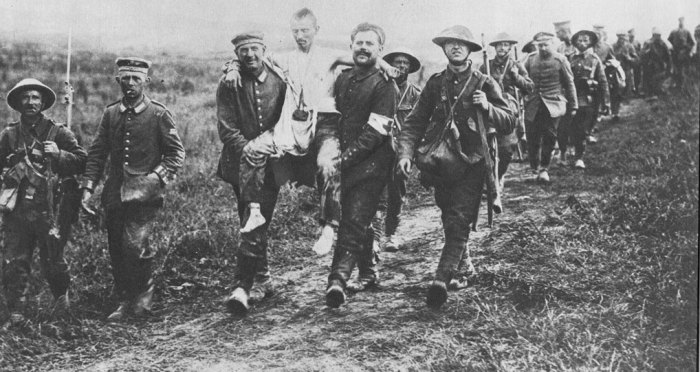 British troops with German prisoners, Britain and the First World War