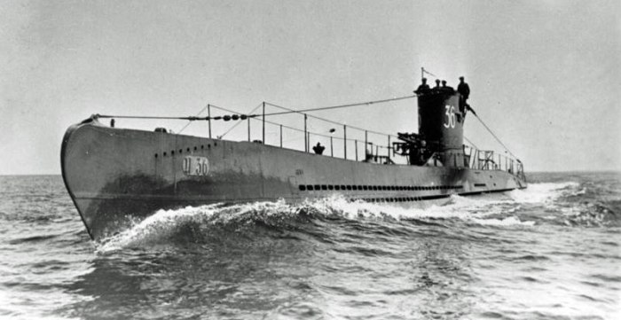 U-boats, U-36, Second World War