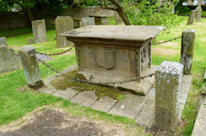Catherine Mompesson, grave, Eyam