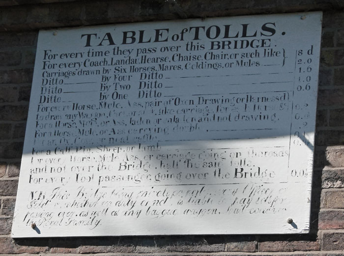 Ironbridge, toll charges