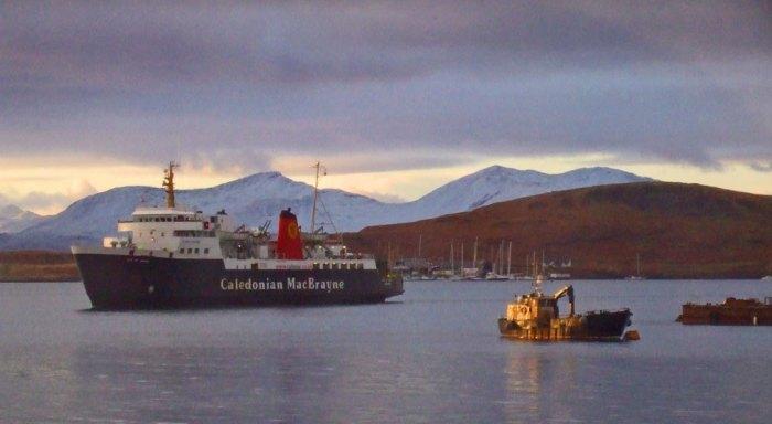 Oban Calmac ferry, Scotland