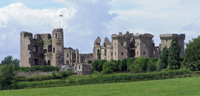 Raglan - one of more than 600 castles in Wales