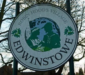 Edwinstowe, village sign