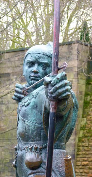 Robin hood, statue, Nottingham