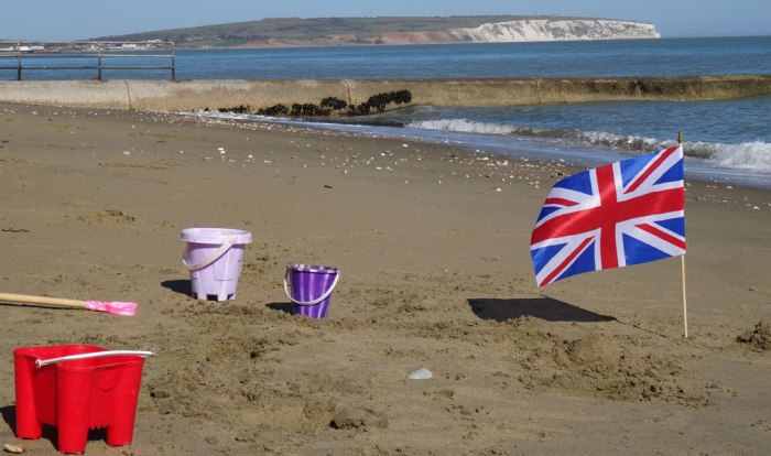 Shanklin beach, Isle of Wight, South East England