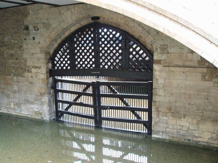 Traitor's Gate. This is where the young Princess, later Queen Elizabeth I, entered the Tower.