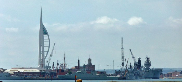 Spinnaker Tower and the Dockyard, Portsmouth.