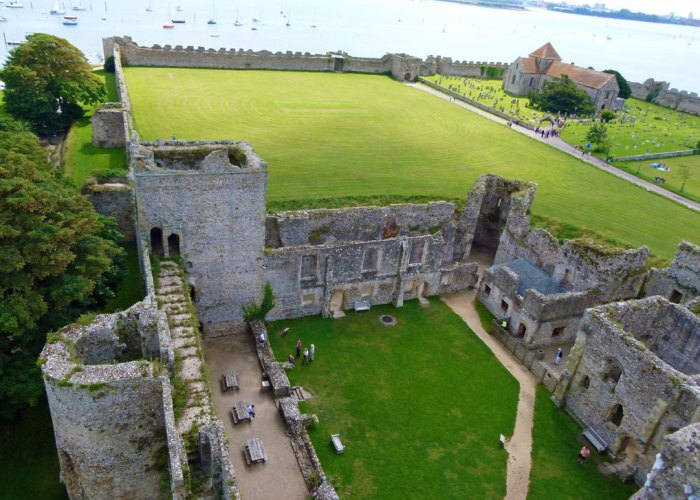 Portchester Castle, view from the keep.