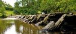 Tarr Steps, ancient clapper bridge in Somerset