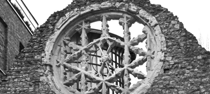 Rose window of Winchester Palace'