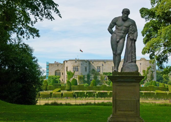 Statue of Hercules by John Van Nost at Chirk Castle.