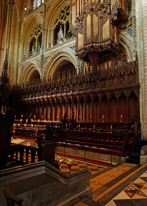Ely's choir stalls and organ