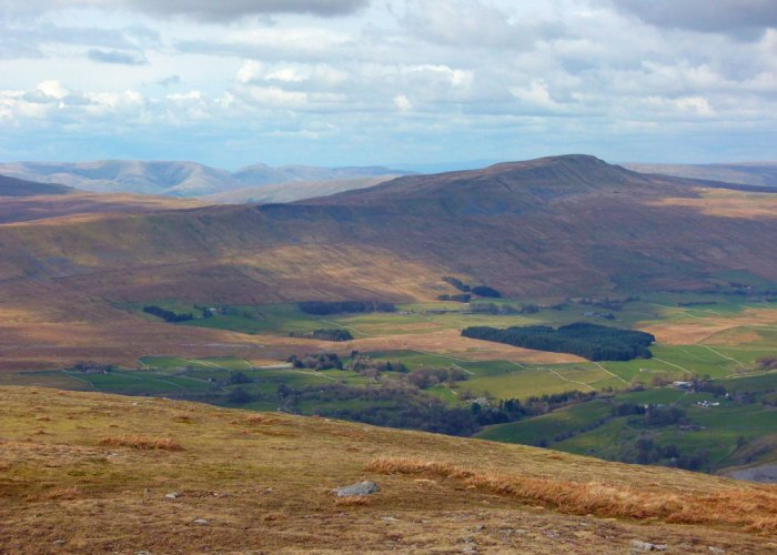 From the summit of Ingleborough - a great view of Whernside