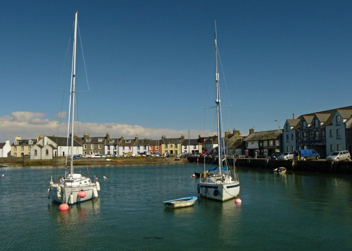 Isle of Whithorn harbour.