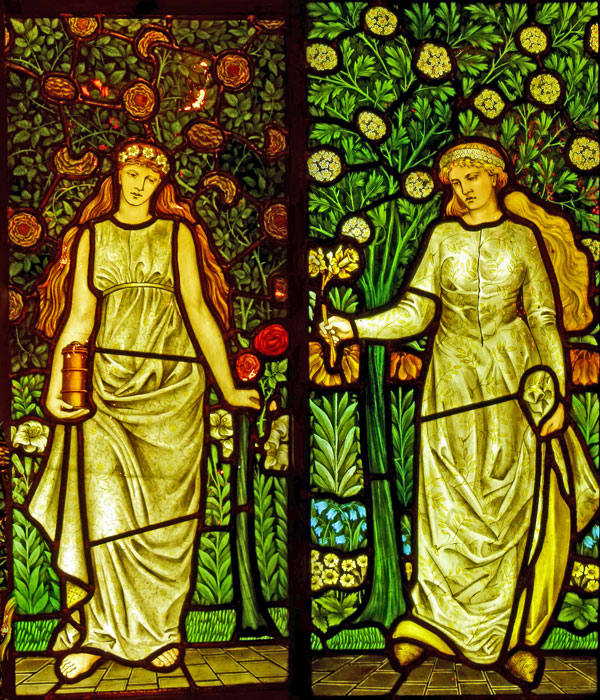 Cragside, William Morris, stained glass