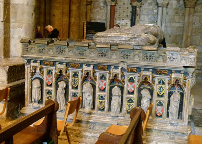 Tomb of John Neville, 3rd Baron Raby, and his wife, Maud.