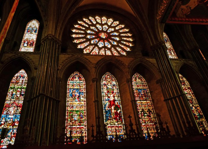 East windows, Chapel of the Nine Altars, Durham Cathedral