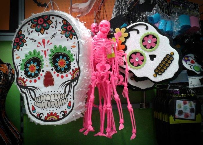 Halloween, masks, skeletons