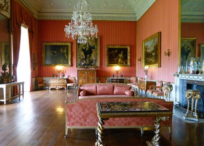 Shugborough Hall. The red drawing room.