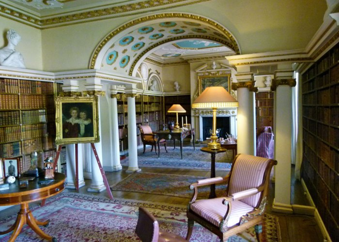 Shugborough - the library