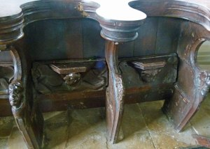 Misericords, Swinbrook, Oxfordshire