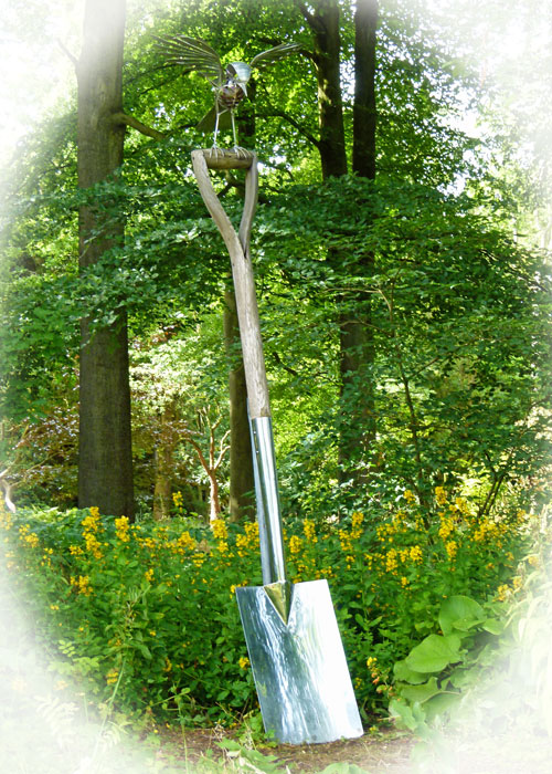 Giant spade, Harlow Carr, Yorkshire