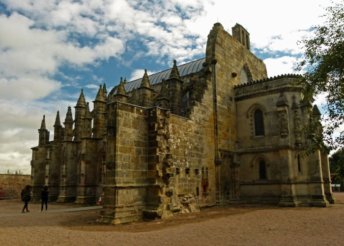 Rosslyn Chapel, focus for conspiracy theorists and grail hunters